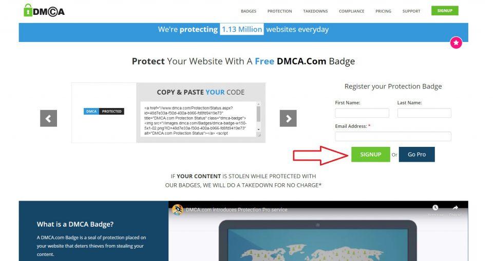 Hướng dẫn đăng ký dmca